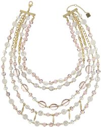 Laundry by Shelli Segal - Layer Beaded Drama Necklace - Lyst