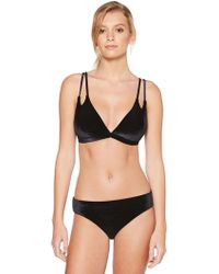 Laundry by Shelli Segal - Double Strap Velvet Triangle - Lyst