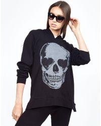 7b00c8e6fe Lauren Moshi - Corbin Heart Eye Skull Pullover Hoodie W  Side Zippers - Lyst
