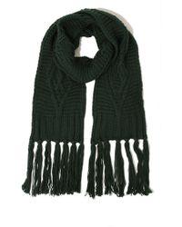 Lavish Alice - Dark Green Knit Scarf - Lyst