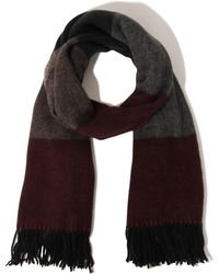 Lavish Alice - Burgundy & Grey Colour Block Scarf - Lyst