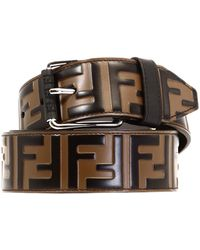 Fendi - Belt Ff Brown - Lyst