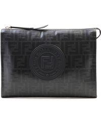7eff3b751a20 Lyst - Fendi Functional Clutch Bag in Black for Men