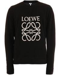 Loewe - Anagram Sweatshirt Black - Lyst