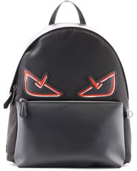 aa9bc60a6c Fendi - Black And Red Bag Bugs Backpack - Lyst