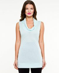 Le Chateau - Knit Cowl Neck Sleeveless Top - Lyst