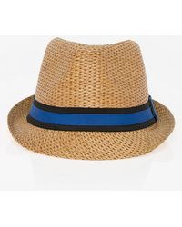 Le Chateau - Woven Fedora Hat - Lyst