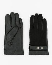 Le Chateau - Leather & Wool Blend Gloves - Lyst