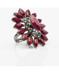 Le Chateau - Floral Gem Ring - Lyst
