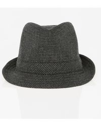 Le Chateau - Houndstooth Wool Blend Fedora Hat - Lyst