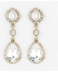 Le Chateau - Gem Teardrop Earrings - Lyst