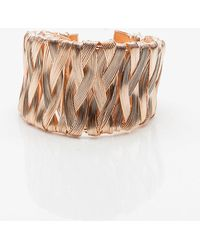 Le Chateau - Wrapped Open Cuff Bracelet - Lyst