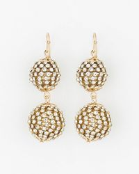 Le Chateau - Gem Ball Drop Earrings - Lyst