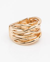 Le Chateau - Wide Criss-cross Ring - Lyst