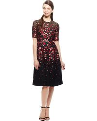 Lela Rose - Degrade Floral Fil Coupe Holly Elbow Sleeve Dress - Lyst