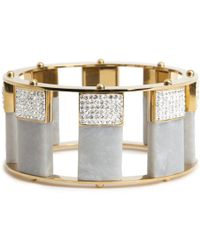 Lele Sadoughi - Pave Tall Stackable Bangle - Lyst