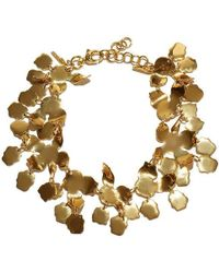 Lele Sadoughi - Golden Lily Necklace - Lyst