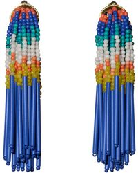 Lele Sadoughi - Striped Fringe Earrings - Lyst