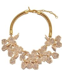 Lele Sadoughi - All Over Crystal Lily Necklace - Lyst