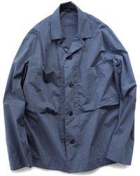 Still By Hand   Melange Face Shirt Jacket   Blue   Lyst