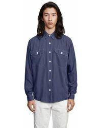 Schnayderman's - Shirt Boxy One   Blue - Lyst