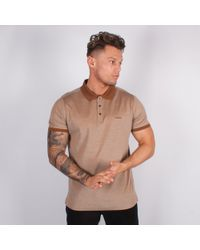 Lagerfeld - Brown Pique Polo Shirt - Lyst