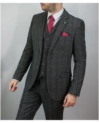 leonard silver - Grey Tweed 3piece Suit - Lyst
