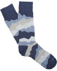 Etiquette - Seismic Patterned Socks - Lyst