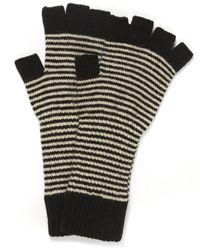 Jo Gordon - Fine Stripe Lambswool Fingerless Gloves - Lyst