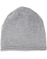 CASH CA - Cashmere Knitted Beanie Hat - Lyst
