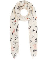 Lily and Lionel - Doodle Silk Scarf - Lyst