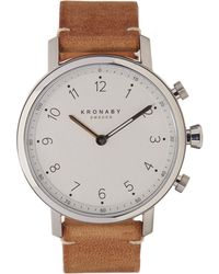 Kronaby - Nord Leather Strap Smart Watch - Lyst