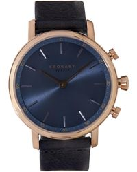 Kronaby - Carat Leather Strap Smart Watch - Lyst