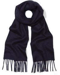 Johnstons - Solid Cashmere Scarf - Lyst