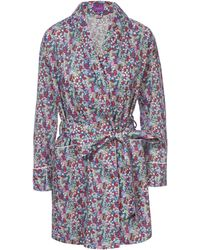 Liberty - Emily Jane Short Cotton Robe - Lyst