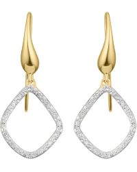 Monica Vinader - Gold Vermeil Riva Kite Diamond Earrings - Lyst