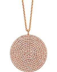Astley Clarke - Rose Gold Large Icon Diamond Pendant Necklace - Lyst