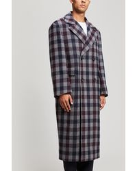Wooyoungmi - Double-breasted Check Wool Coat - Lyst