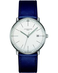 Junghans - Max Bill Mega Leather Strap Watch - Lyst