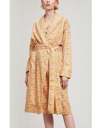 Liberty - Clementina Tana Lawn Cotton Long Robe - Lyst