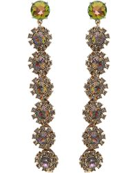 Lulu Frost - Beam Crystal Drop Earrings - Lyst