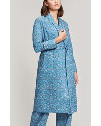 Liberty - Imran Long Cotton Robe - Lyst