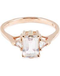 Anna Sheffield - Rose Gold Bea Rainbow Moonstone Three Stone Ring - Lyst
