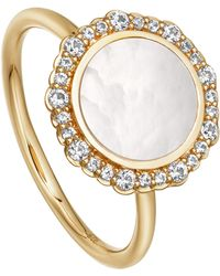 Astley Clarke - Gold Luna Mother Of Pearl Sapphire Ring - Lyst