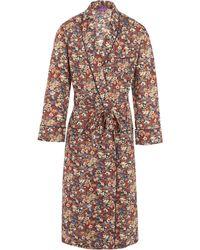 Liberty - Thorpe Long Tana Lawn Cotton Robe - Lyst