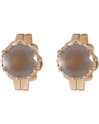 Anna Sheffield - Moonstone Solitaire Stud Earrings - Lyst