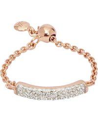 Monica Vinader - Fiji Rose Gold Vermeil Diamond Ring - Lyst