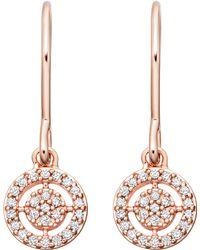 Astley Clarke - Rose Gold Mini Icon Aura Drop Earrings - Lyst