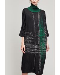 Crea Concept - Oversize Check Knit Dress - Lyst