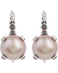 Stephen Dweck - Silver Mabe Pearl Drop Earrings - Lyst
